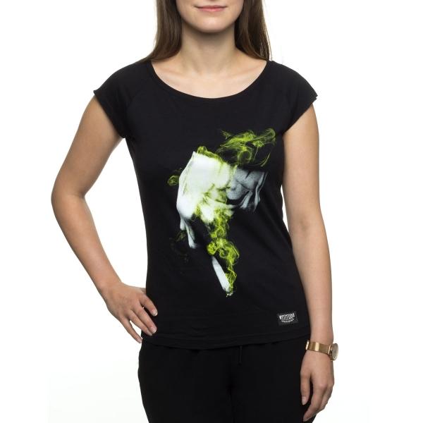 Auf Der Jagd Girly T-Shirt - Black