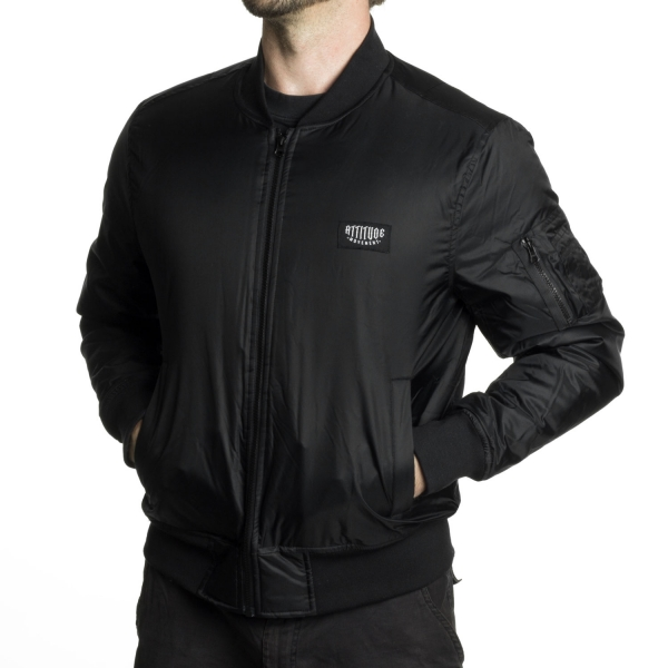 Attitude Movement Logo Bomber Jacket - Black